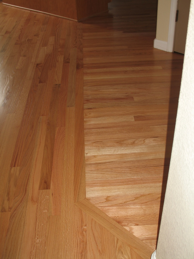 Change Directions Of The Flooring And Tie Into The Old